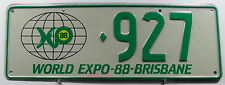 "Nummernschild Australien Queensland ""WORLD EXPO-88-BRISBANE"". 11553."