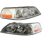 Headlight Set For 2003-2004 Lincoln Town Car Left and Right With Bulb 2Pc