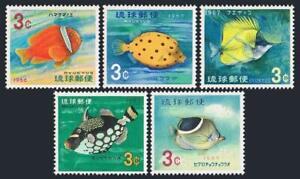 RyuKyu 151-155,MNH.Michel 180-184. Clown Fish 1966-1967.
