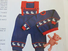 baby knitting pattern jumpers & overalls 5 ply 6 months to 2 years