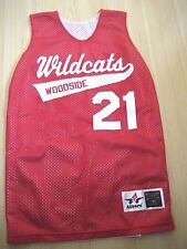 NEW YOUTH S 10 12 Red White ALLESON Reversible MESH Basketball TANK WILDCATS 21