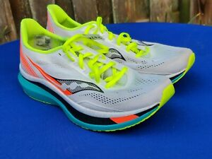 Saucony Endorphin Pro, White / Mutant, Mens Size 10.5, Running Shoes, S20598-10