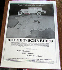 ROCHET SCHNEIDER / LUC BARBIER / QUALITE / 1928 / AUTOMOBILE  PUBLICITE ANCIENNE