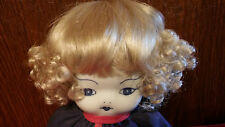 "GLOBAL DOLLS Lt. Blonde Curly Wig 9-10 ""ANGELA"" New Old Stock NIP EXLNT NO DOLL"