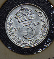 Great Britain 1918 3 Pence threepence 190418 combine shipping