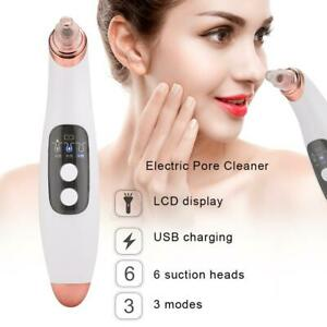 6 in 1 Electric Pore Cleanser Remove Blackheads Pimples Facial Cleaning Device