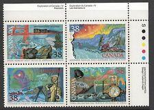 Canada Sc#1236a Exploration Block of 4 1989, MNH VF