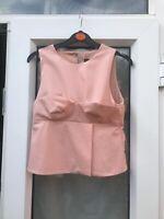 Zara Pink Top Size S Small BNWT! Bodice Top Peplum Top Crop Top B11