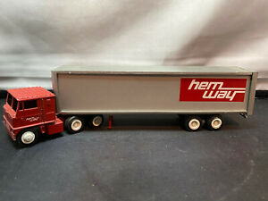 Winross Hemway Trucking Mack COE Tractor Truck With Trailer 1/64 Diecast