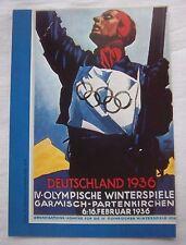 Guide / Resultate   Olympische W.Spiele GARMISCH PARTENKIRCHEN 1936  !!  SELTEN