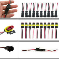 2 Pin Wire Connector Sealed Waterproof Electrical Car SUV Boat Plug Terminal New