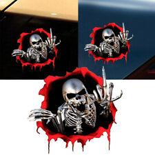 1x 3D Skeleton Skull Decal Car Sticker Badge Emblem Decal Decor Car Accessories