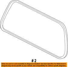 FORD OEM Lift Gate-Weatherstrip Seal 2L1Z7842084CA