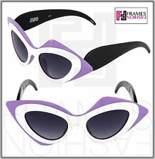 40b6a2c8178 Linda Farrow Prabal Gurung Cat Eye Mask Black White Lilac Pg17 Sunglasses