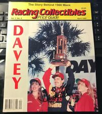 Racing Collectibles Price Guide 4/1992-Davey Allison Autograph Signed Twice F26