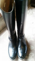 EFFINGHAM by BOND BOOT CO. USA RIDING BLACKLEATHER STYLE 100L WOMEN size 71/2