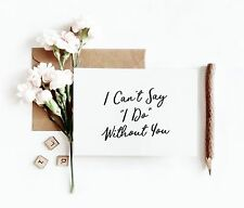 Will You Be My Bridesmaid? Maid of Honour Flower Girl Simple