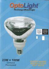 (1) OptoLight CFL FLOOD BULB, Energy Saving, 23W USED - 100W OUTPUT, OP-R38-23W