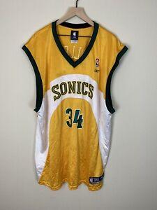 Reebok NBA Sonics Basketball jersey  Allen Vintage Mens 3XL SEATTLE