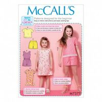 McCalls M7344 Learn to Sew for Fun PATTERN Childrens//Girls Dresses Size 3-14