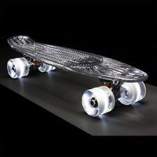 Sunset Skateboards 'Geist' Klar Deck Weiß Schlaghose LED Aufleuchtend Räder