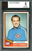 1974-75 o-pee-chee nhl #261 SCOTTY BOWMAN montreal canadiens rookie BGS BVG 6