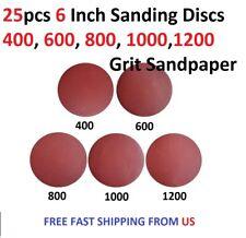 25pcs 6 Inch Sanding Discs 400, 600. 800, 1000,1200 Grit Sandpaper