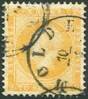 NORWAY-1856-60 2sk Orange-Yellow Sg 4 VERY FINE USED V34781
