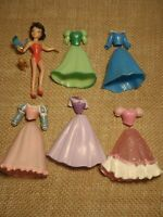 Polly Pocket Disney Princess Lot Snow White Outfits Skirts Tops Doll H77
