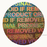 VOID IF REMOVED, ORIGINAL PRODUCT Hologram Round stickers seals 15mm dia C15-2S