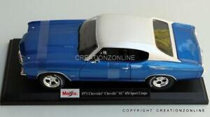 1971 Chevrolet Chevelle SS 454 Sports Cou1:18 Maisto Model Scale Car Vehicle