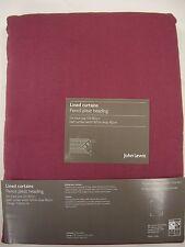 JOHN LEWIS SOFT MULBERRY COTTON RIB LINED PENCIL PLEAT CURTAINS 167cmW x 182cm D