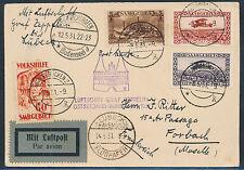 Zeppelin Ostseejahrrundfahrt 1931 ab Saargebiet nach Lübeck + Frankreich (S13756