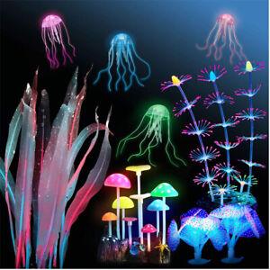Aquarium Decoration Coral Soft Silicone  Glowing Coral Fish Tank Decoration
