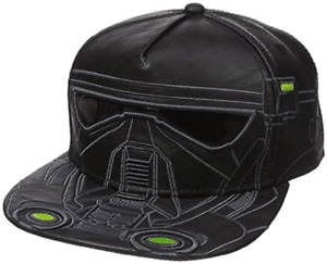 STAR WARS - DEATH TROOPER, Black, Faux Leather, Stitched, Official Snapback Cap