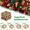 10Pcs/bag Wood Snowflake Hanging Ornament Rustic Party Christmas Tree Decor