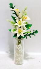 Glasvase mit Blumen ca. 6 cm h  Puppenstube 1:12