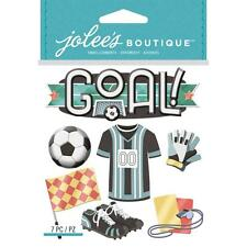 Scrapbooking Crafts Stickers Jolees Dimensional Soccer Goal Shoes Ball Flag More