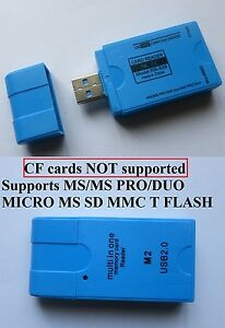 USB 2.0 All in One Multi Memory Card Reader TF MS M2   Micro SD HC