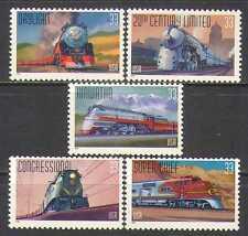 USA 1999 Steam Engines/Trains/Locomotives/Rail/Railway/Transport 5v set (n24273)