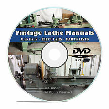 350+ Lathe Owners Manuals, Instructions, Parts List, American Tool Oliver CD V46