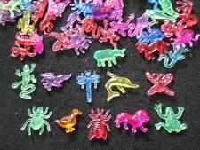 100 pcs Assorted Acrylic Animal toys mix bright transparent colors