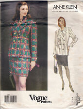 Vogue Designer Sewing Pattern 2961, Anne Klein, Jacket, Skirt, Size 8 - 12, OOP