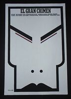 THE BIG CRIME Cuban Silkscreen Poster for Japanese Movie by Cuba Art Master Ñiko