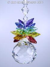 m/w Swarovski Mozart 7 Chakra Colors Pineapple Sun Catcher Lilli Heart Designs
