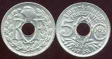 5 CENTIMES  LINDAUER  .1939.  AVEC POINTS  SPL  ( bis )