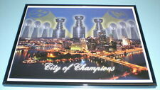 STEELERS PENGUINS CITY OF CHAMPIONS FRAMED COLOR 11x14 PRINT