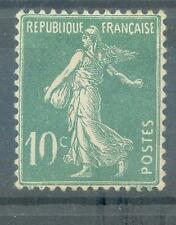 France Variété sur SEMEUSE 10 c vert (trés beau)