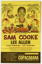 SAM COOKE Original 1964 Concert Handbill - Copacabana