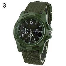 Men's Military Army Sport Style Canvas Strap Luminous Quartz Wrist Watch Z39